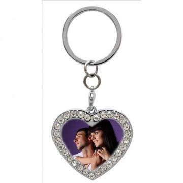 Porte clé avec photo coeur...