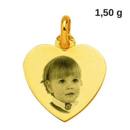Bijou personnalisable en or jaune 18 carats coeur