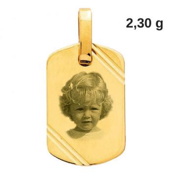 Médaille à graver en or 18...