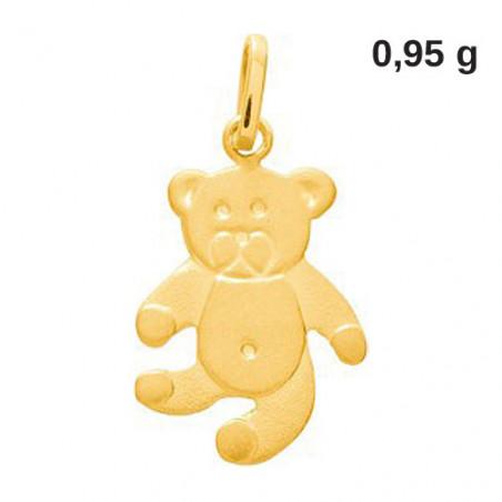Pendentif en or 18 carats ours en peluche