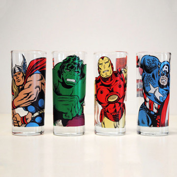 Lot de verre marvel