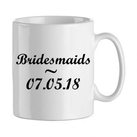 """Cadeau de demoiselle d'honneur : mug """"bridesmaids"""""""