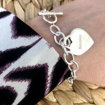 Bracelet charms en argent