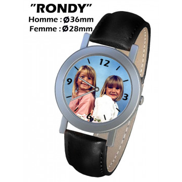 """Photo sur montre """"RONDY"""""""
