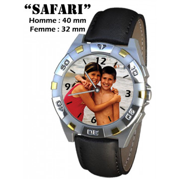 "Photo sur montre ""SAFARI"""