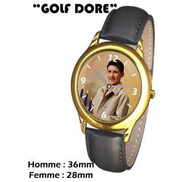 """Photo sur montre """"GOLF DORE"""""""