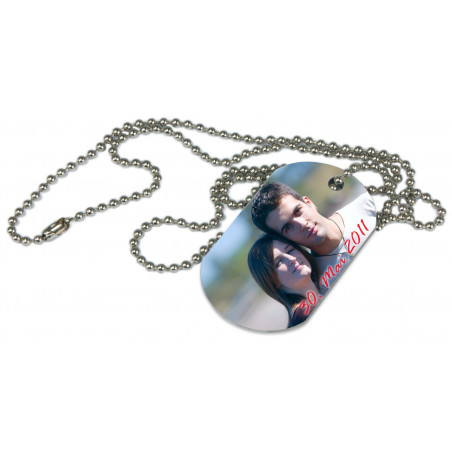Dog Tag style militaire photo