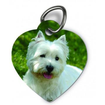 Pendentif pour animaux coeur
