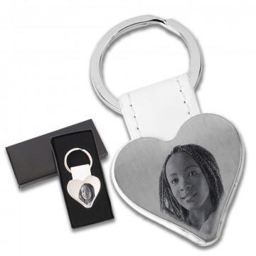 Porte clé en métal coeur