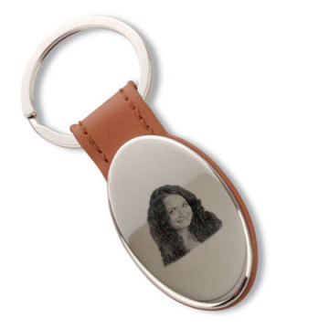Porte clé ovale gravé...