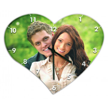 Horloge coeur personnalisée...