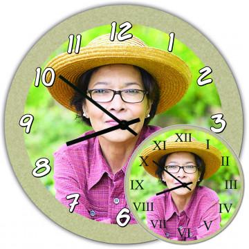 Horloge cuisine personnalisée