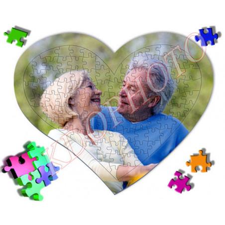 Puzzle personnalisé coeur