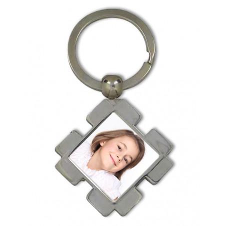 Porte clé photo carré