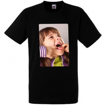Tee-shirt noir personnalisé