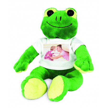 Peluche grenouille personnalisée Paddy