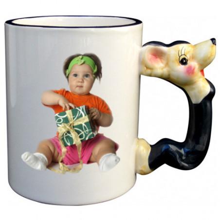 Photo sur tasse : mug personnalisé avec anse souris