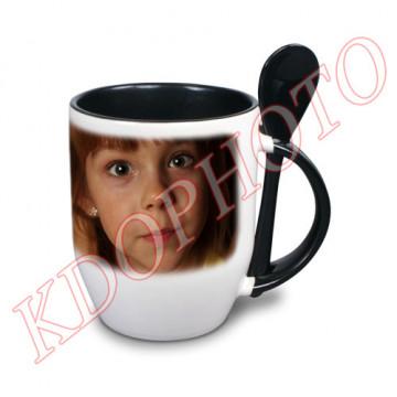 Photo sur tasse noire avec...