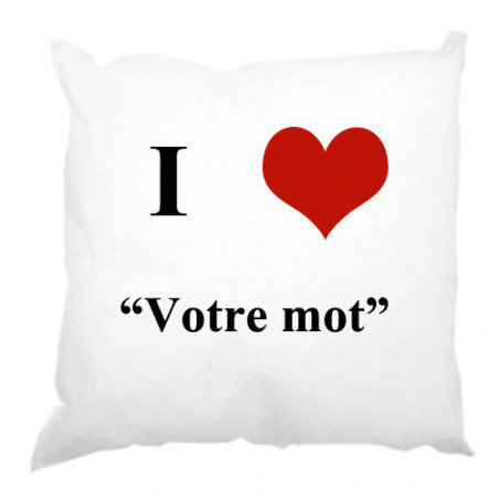 "Photo sur coussin 45x45 cm ""I love"""