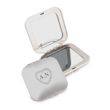 Miroir de poche carré gravé