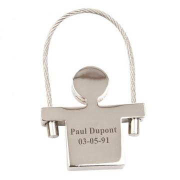 Porte clé en métal gravé...