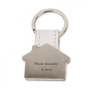 Porte clé maison gravé avec...
