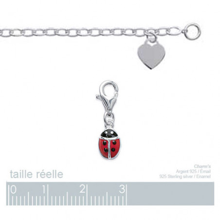 "Charms argent ""coccinelle"""