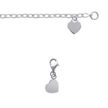 "Charms argent ""coeur"""