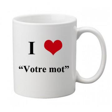 "Mug personnalisé ""I love"""