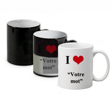 "Mug magique ""I love"""