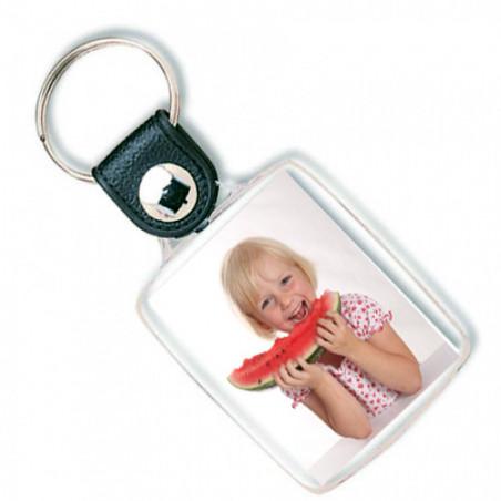 Porte clef photo en plastique
