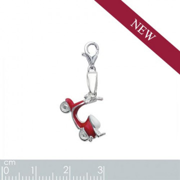 "Charms argent ""scooter"""