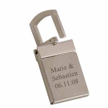 Porte clé gravé mat