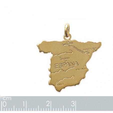 """Gravure sur pendentif """"Espagne"""" plaqué or"""