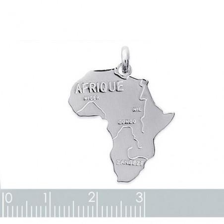 """Gravure sur pendentif """"Afrique"""" argent"""