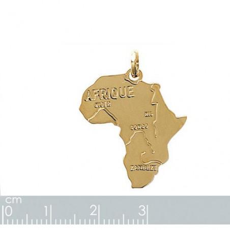 """Gravure sur pendentif """"Afrique"""" plaqué or"""