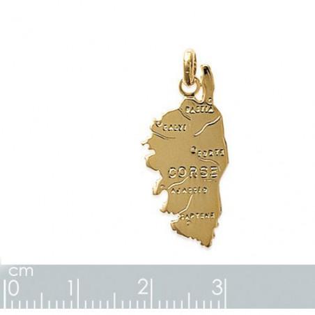 """Gravure sur pendentif """"Corse"""" plaqué or"""