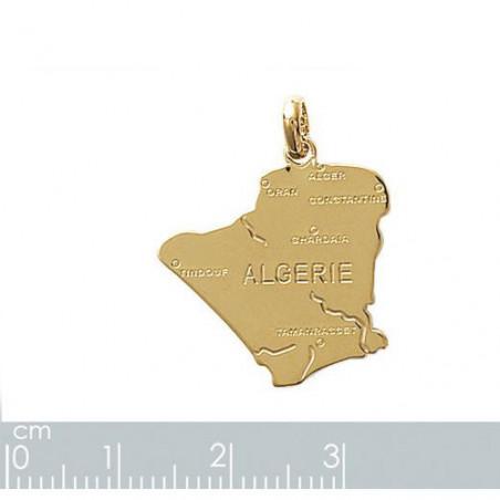 """Gravure sur pendentif """"Algérie"""" plaqué or"""