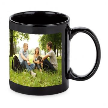 Photo sur tasse noire