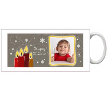 Photo sur tasse de Noël...