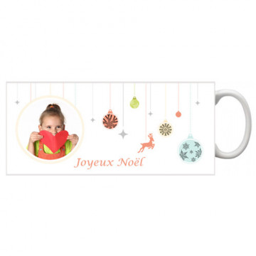 Photo sur tasse de Noël...