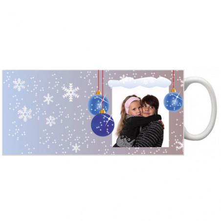 Photo sur tasse de Noël Flocons