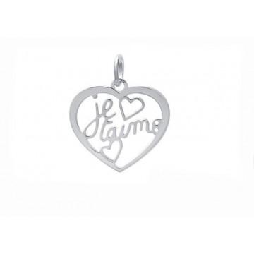 "Pendentif coeur ""Je t'aime""..."