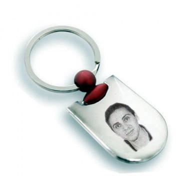 Porte clé rectangle arrondi...