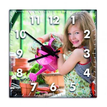 Horloge personnalisée carré...