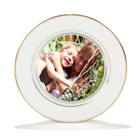 Photo sur assiette en fine porcelaine