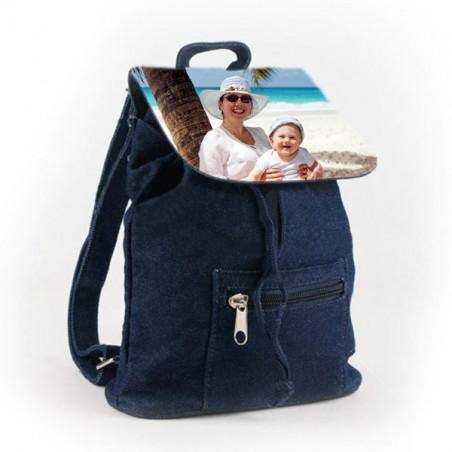 Photo sur mini sac à dos en jean