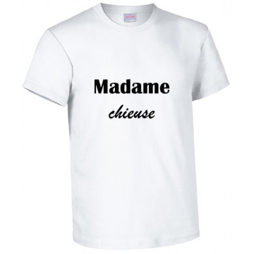 Tee-shirt blanc humour...