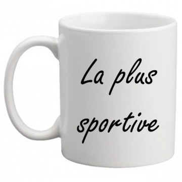"Mug ""La plus sportive"""
