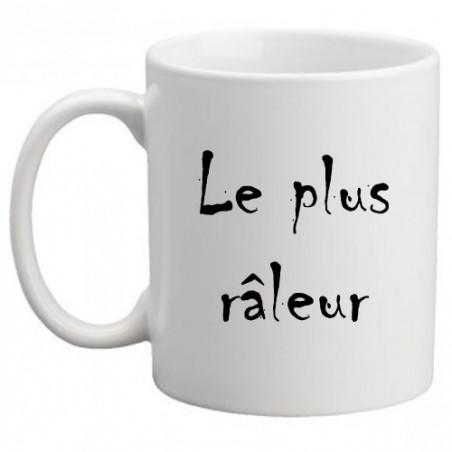 """Mug personnalisé humour """"Le plus râleur"""""""